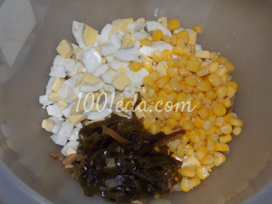 Салат с грибами и морской капустой: пошаговый с фото - Шаг №5