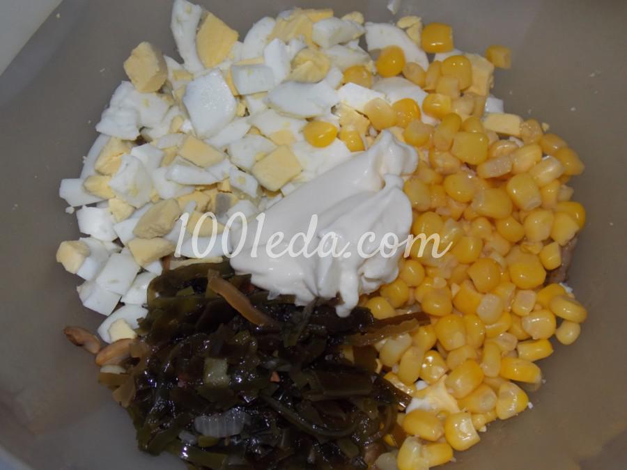 Салат с грибами и морской капустой: пошаговый с фото - Шаг №6