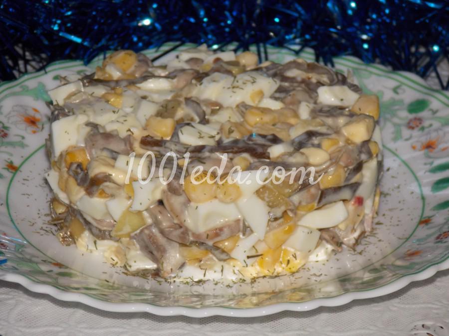 Салат с грибами и морской капустой: пошаговый с фото