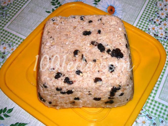 Халва арахисовая с изюмом: пошаговое фото