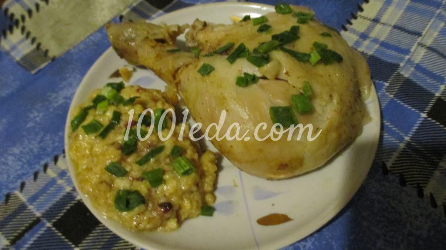 Цыпленок фаршированный сыром: пошаговое фото