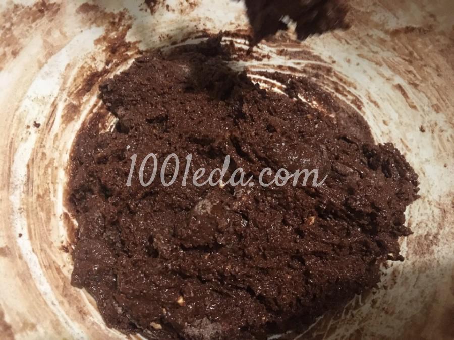 Пирог шоколадный с творожными шариками: пошаговое фото - Шаг №3