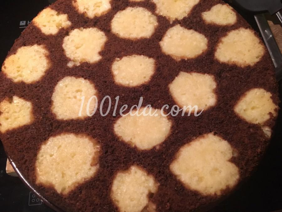 Пирог шоколадный с творожными шариками: пошаговое фото