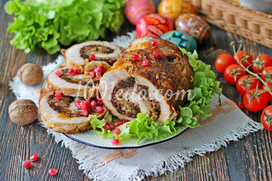 Мясной рулет с черносливом: пошаговый с фото
