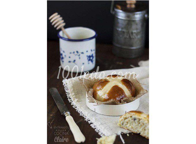 Английские крестовые булочки (пасхальные булочки)