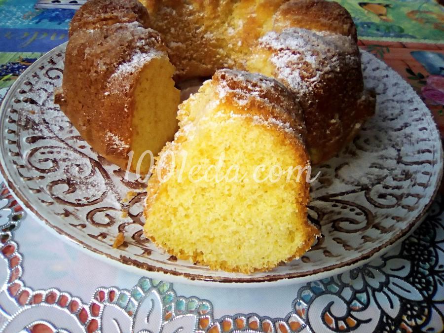 Ванильный бисквит на кипятке: пошаговый с фото