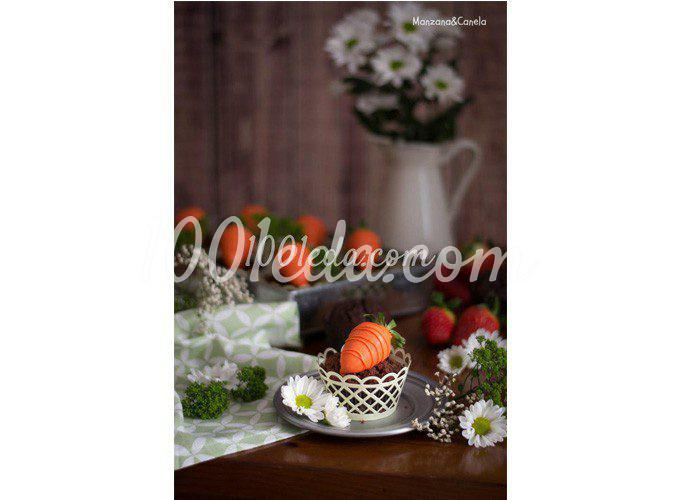 Шоколадные маффины с клубникой (пасхальный рецепт)