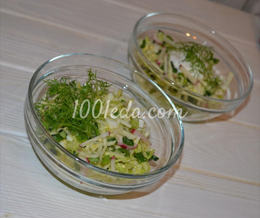Салат из молодой капусты Весеннее утро