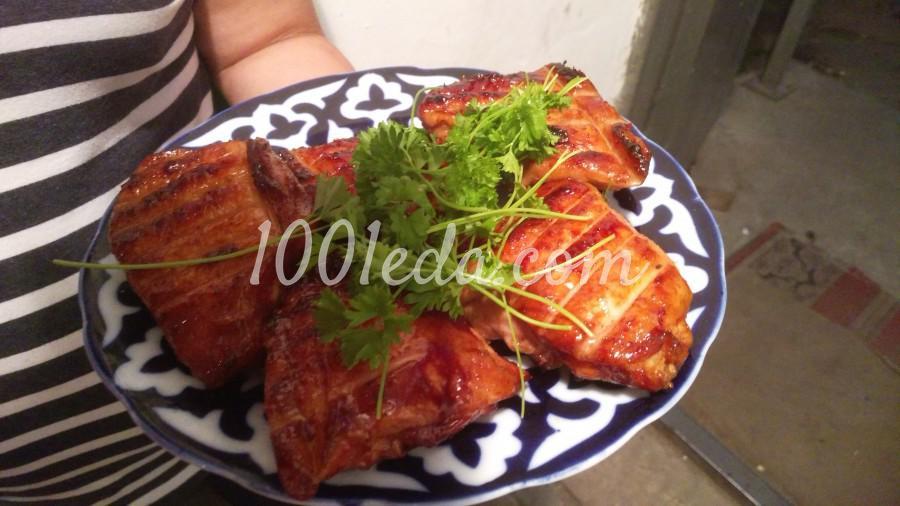 Маринованные куриные бёдрышки на углях: пошаговое фото