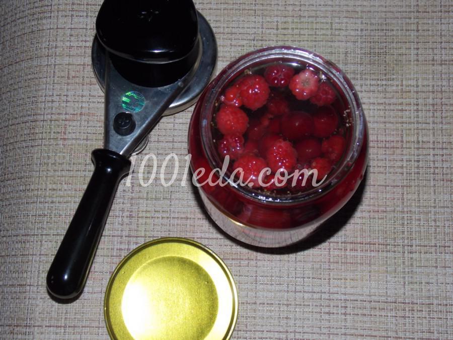 Компот из вишни с мелиссой на зиму: пошаговое фото - Шаг №6