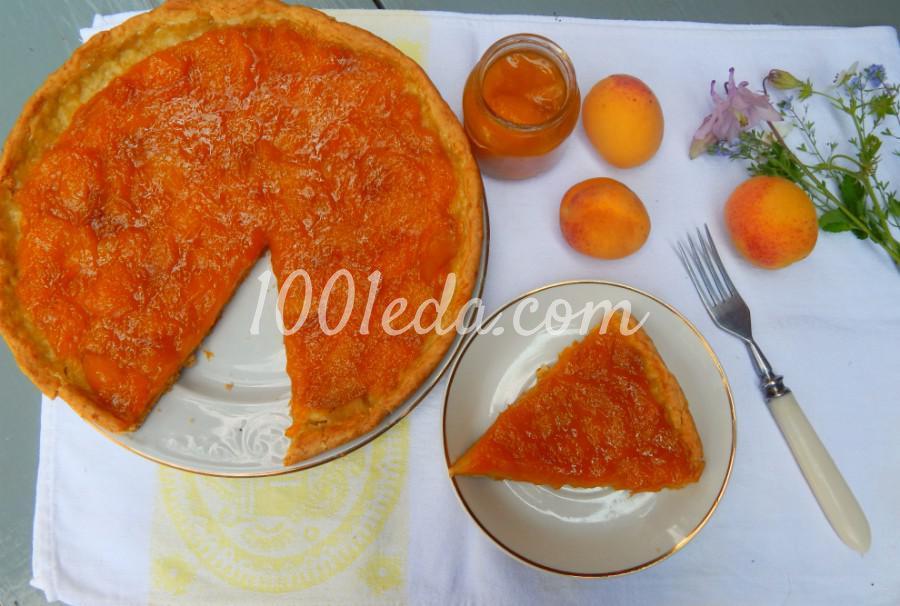 Открытый пирог с абрикосовым джемом: пошаговый с фото