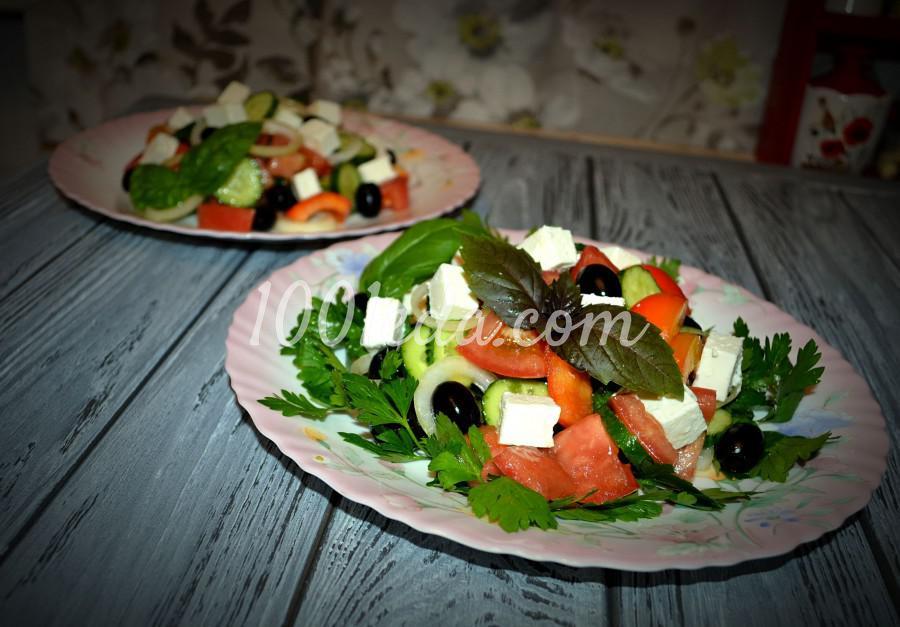 Любимый летний салат «Греческий»: пошаговое фото
