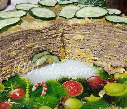 Куриный печёночный торт