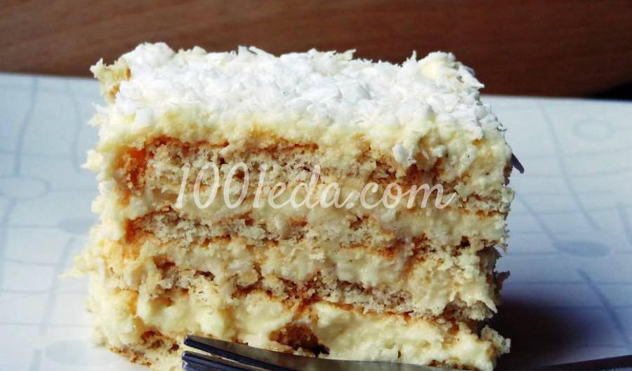 """Кокосовый торт без выпечки """"Раффаэлло"""""""