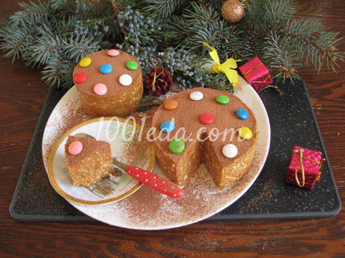 Торт из печенья с орехами