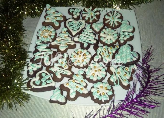 Новогоднее медовое печенье