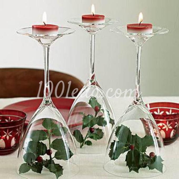 Красивая сервировка новогоднего стола