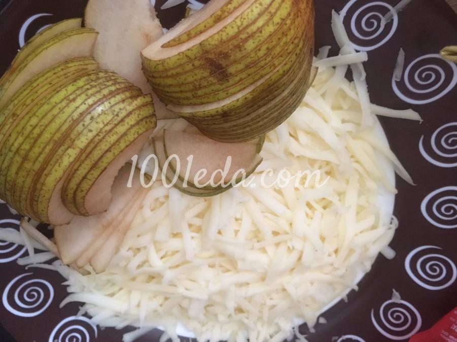 Пирог-роза с грушей и сыром: пошаговый с фото - Шаг №1