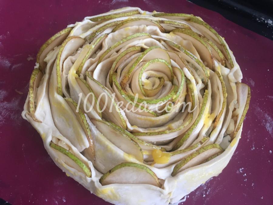 Пирог-роза с грушей и сыром: пошаговый с фото - Шаг №6