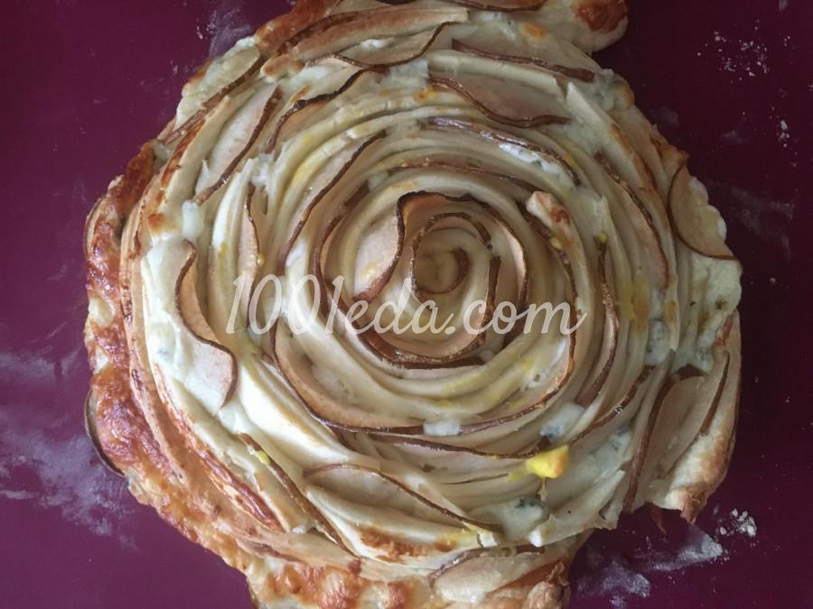 Пирог-роза с грушей и сыром: пошаговый с фото - Шаг №7