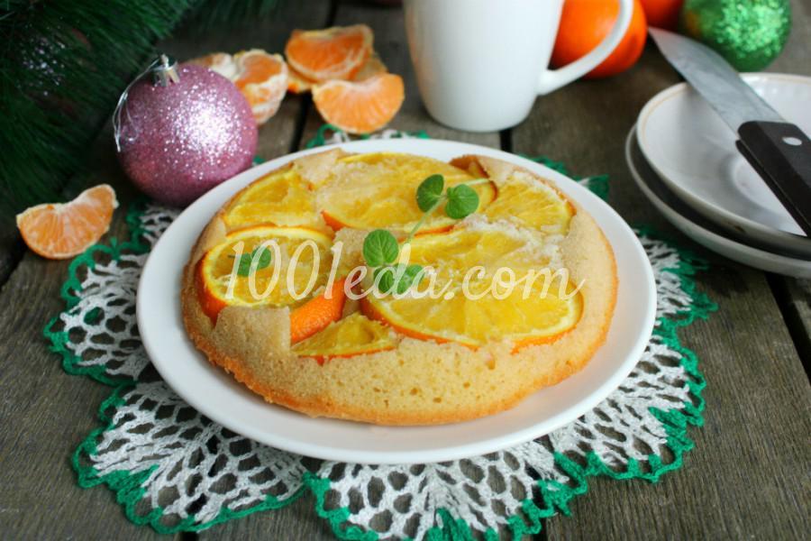 Простой апельсиновый пирог: пошаговый с фото