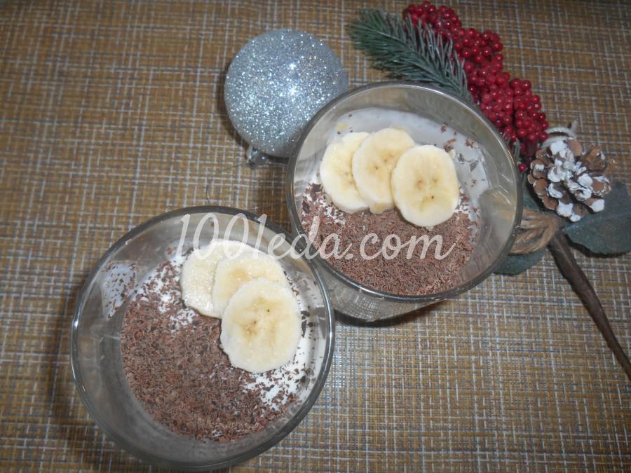 Сметанный десерт с бананом: пошаговый с фото