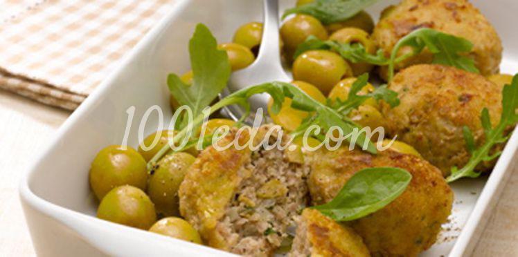 Крокеты из телятины с зелеными оливками