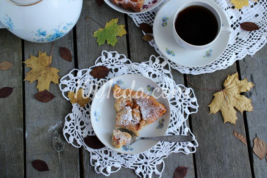 Сладкий пирог с сухофруктами и грецкими орехами