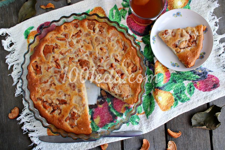 Пирог яблочный (с вялеными яблоками)Пирог с вялеными яблоками: пошаговый с фото