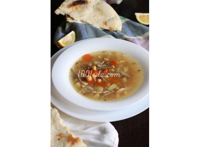 Пряный суп с курицей и нутом