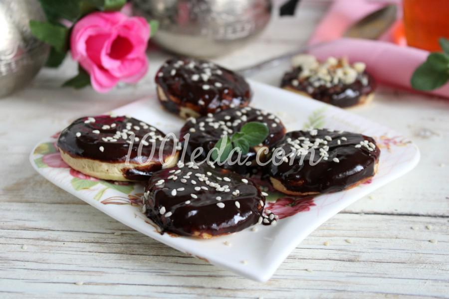 Песочное печенье с шоколадной глазурью: пошаговое фото