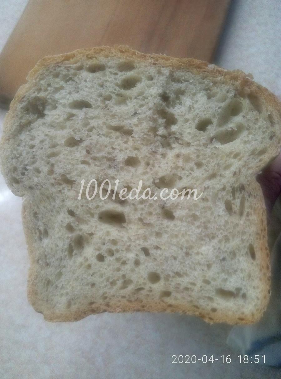 Домашний хлеб с молотым семенем льна