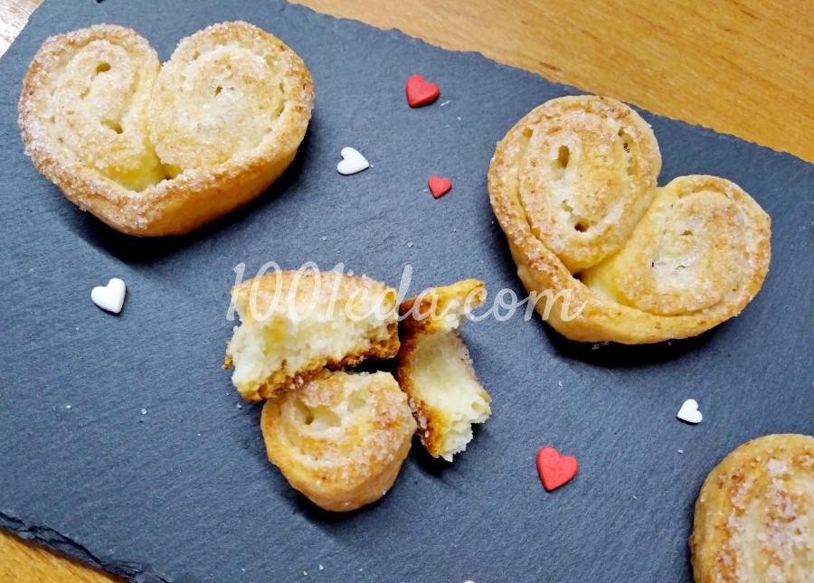 Печенье Сердечки: пошаговое фото