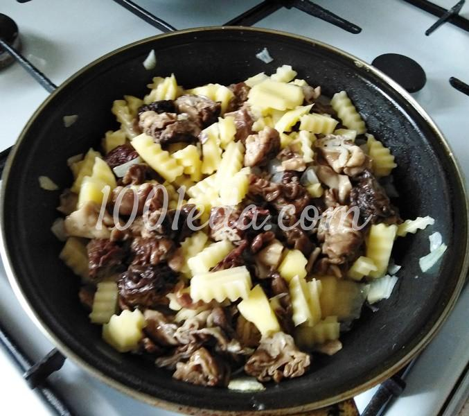 Жареные строчки с картошкой: пошаговое фото