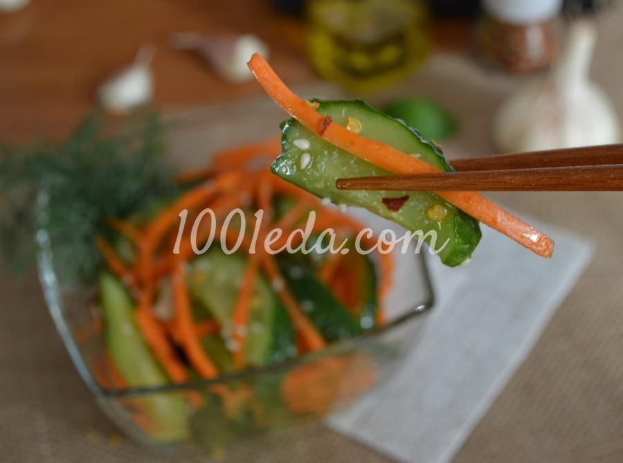 Летний салат из свежих огурцов «Пальчики оближешь!»: пошаговый с фото