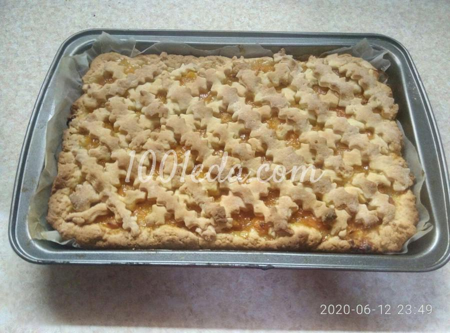 Экономный пирог с абрикосами