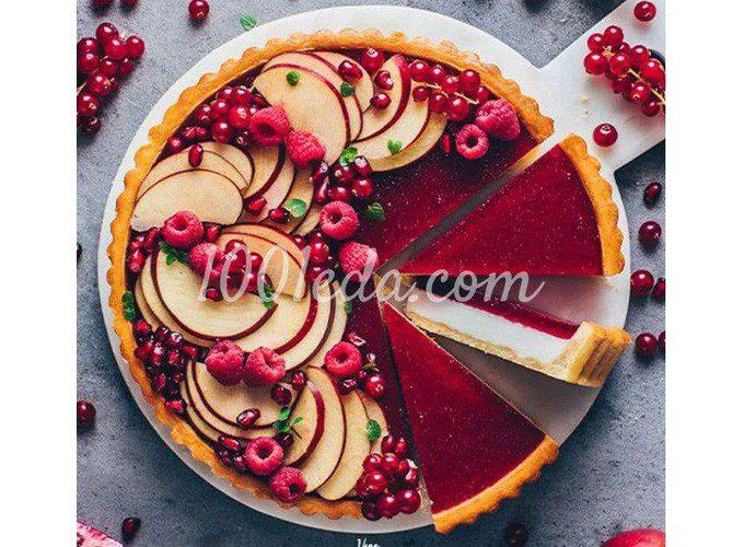 Веганский пирог панна котта с фруктово-ягодным желе: пошаговый с фото