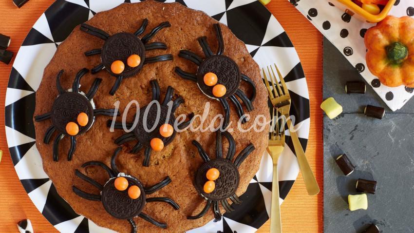 Торт с пауками для Хэллоуина: пошаговый с фото