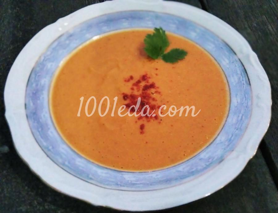 Суп-пюре из чечевицы с томатной пастой