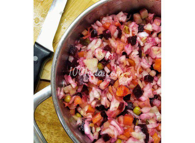 Красивый и вкусный салат - мой Винегрет: пошаговый с фото