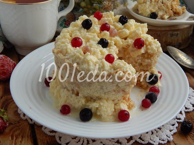 Десерт со вкусом пломбира: пошаговое фото