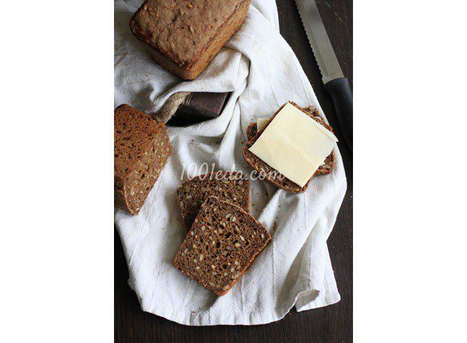 Хлеб ржаной с семечками на закваске