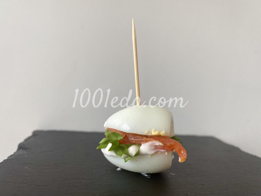 Закуска с перепелиным яйцом и лососем: пошаговое фото