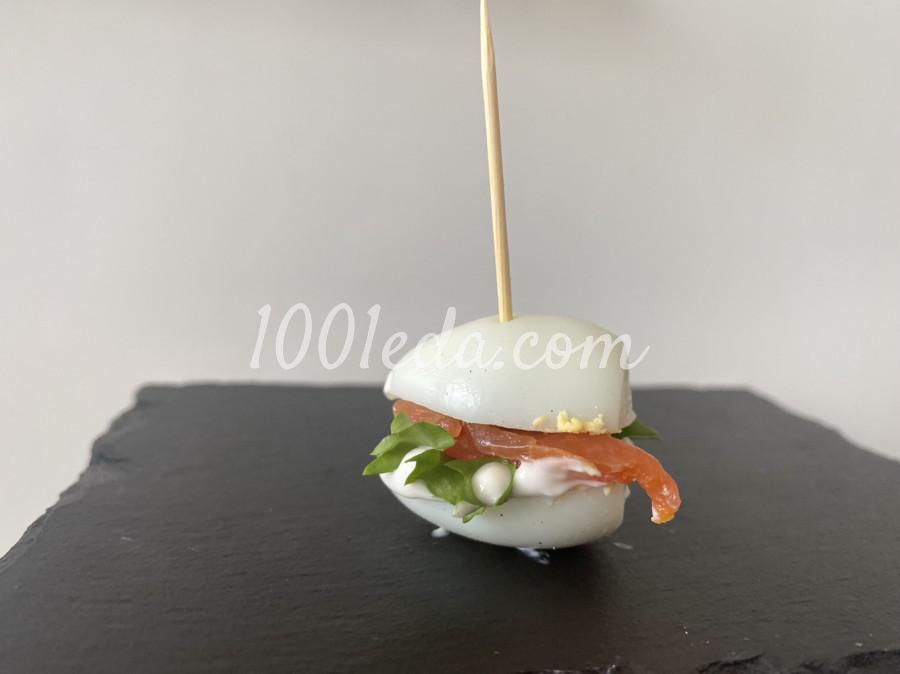 Закуска с перепелиным яйцом и лососем: пошаговое фото - Шаг №6