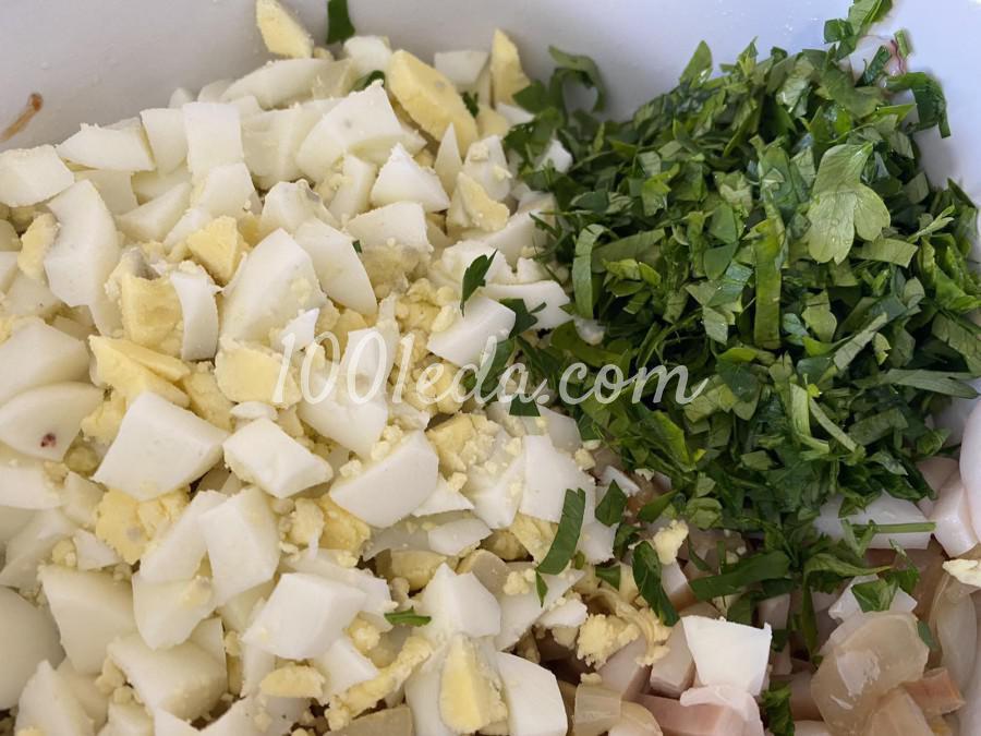 Салат с кальмаром: пошаговый с фото - Шаг №4